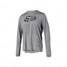 camisa-fox-ranger-ls-foxhead-manga-longa-de-ciclismo-cinza-fox