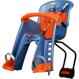 Cadeirinha Dianteira Polisport Bilby com Fixação no Quadro Azul-Laranja - Polisport