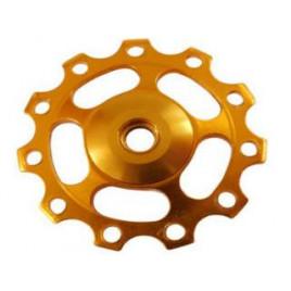 Roldana para Câmbio Traseiro Soul 11 Dentes Alumínio- Dourada - Soul