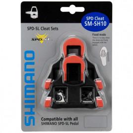 Taco-para-Pedal-Shimano-S-SH10M-SPD-SL-Speed-Float-0-Vermelho-Shimano