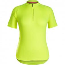 Camisa Bontrager Kalia feminina Manga Curta de Ciclismo - Amarelo Visibility - Bontrager
